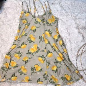 Soft lemon print summer dress